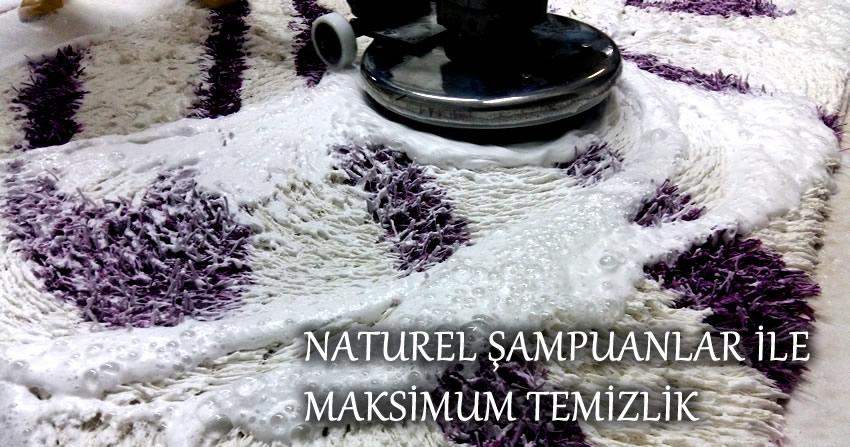 Üsküdar halı yıkama naturel şampuanla yıkama