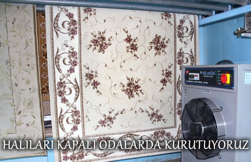 Üsküdar halı yıkama kapalı kurutma odası